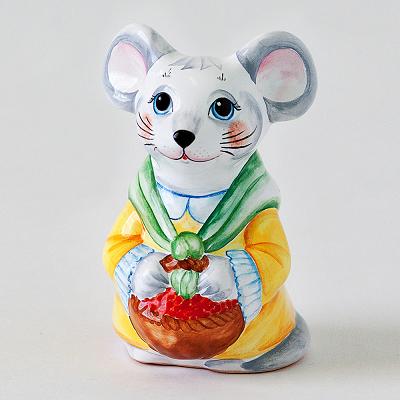 """Вся продукция - Фигура """"Мышка с корзинкой"""""""