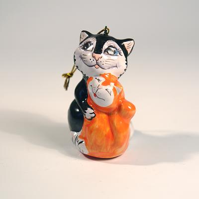 """Вся продукция - Ёлочная игрушка """"Кот с кошкой"""""""