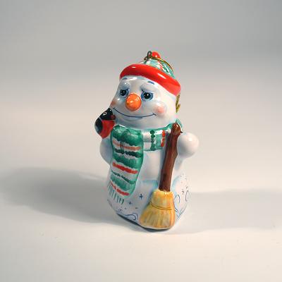 """Вся продукция - Ёлочная игрушка """"Снеговик со снегирем"""""""
