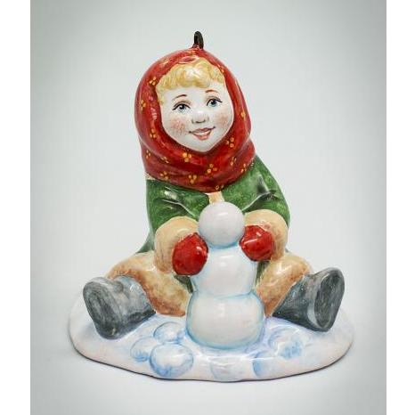 Вся продукция - Девочка лепит снеговика