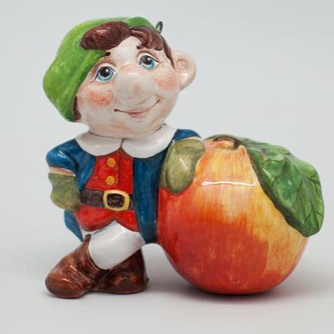 Вся продукция - Счастливчик (гном с яблоком)