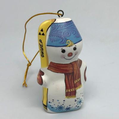 """Вся продукция - Ёлочная игрушка """"Снеговик с лыжами"""""""
