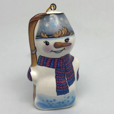 """Вся продукция - Ёлочная игрушка """"Снеговик с лыжами 2"""""""