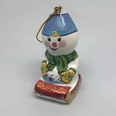 """Вся продукция - Ёлочная игрушка """"Снеговик на санях"""""""